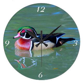 Male Wood Duck on pond Wallclocks