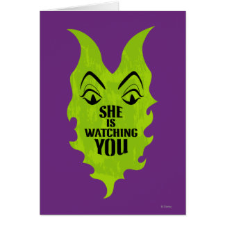 Maleficent - She is Watching You Card