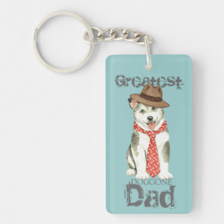 Malemute Dad Double-Sided Rectangular Acrylic Keychain