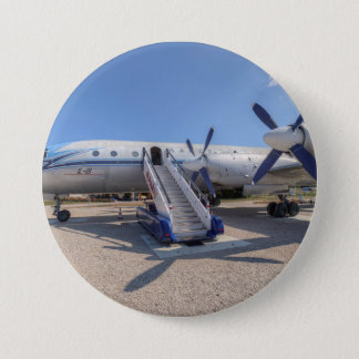 Malev Airlines Ilyushin IL-18 3 Inch Round Button