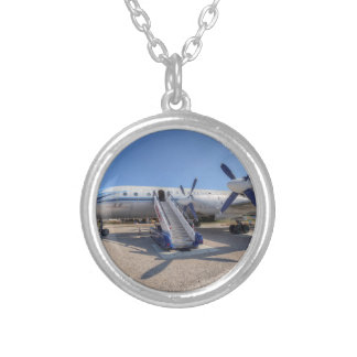 Malev Airlines Ilyushin IL-18 Silver Plated Necklace