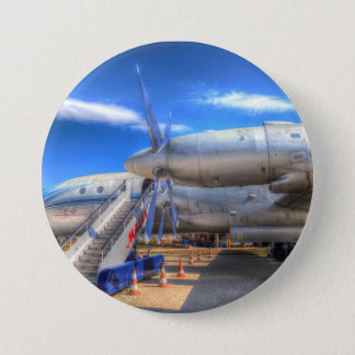 Malev  Ilyushin IL-18 3 Inch Round Button