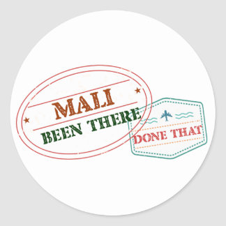 Mali Been There Done That Classic Round Sticker