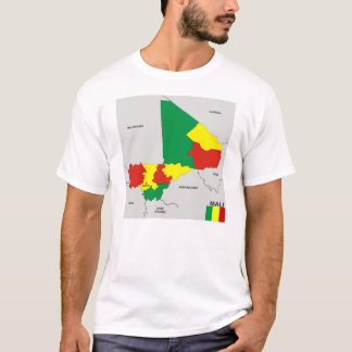 mali country political map flag T-Shirt