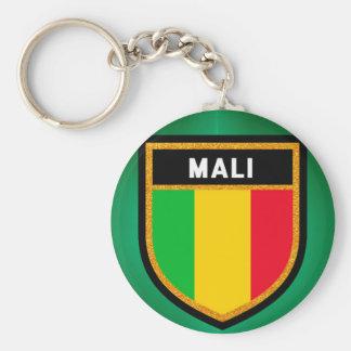 Mali Flag Basic Round Button Keychain