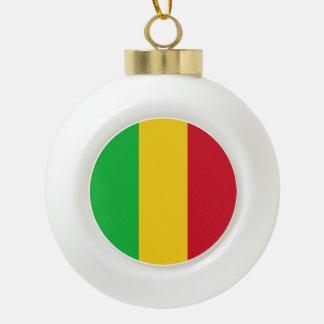 Mali Flag Ceramic Ball Christmas Ornament