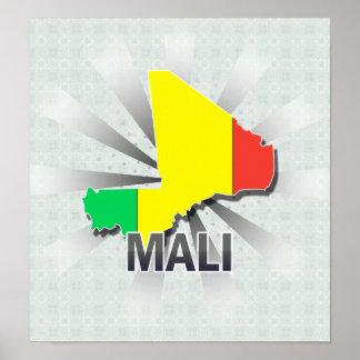 Mali Flag Map 2.0 Poster