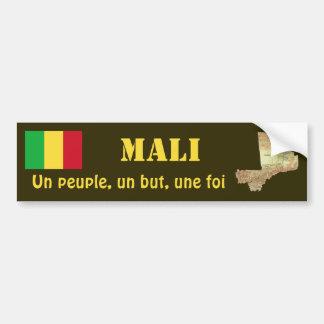 Mali Flag + Map Bumper Sticker