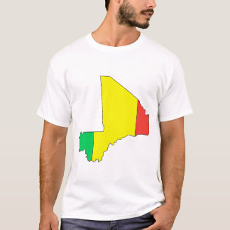 Mali flag map T-Shirt