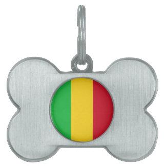Mali Flag Pet Tags