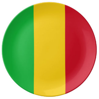Mali Flag Porcelain Plates