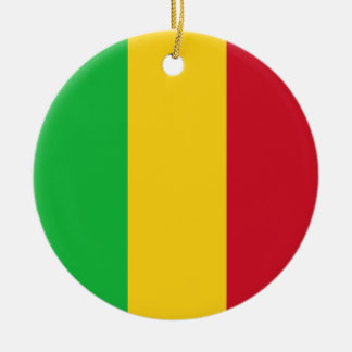 Mali Flag Round Ceramic Ornament