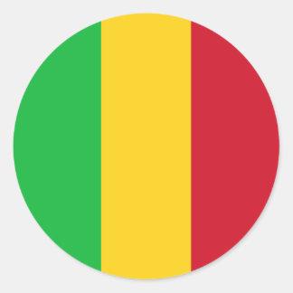 Mali Flag Round Sticker