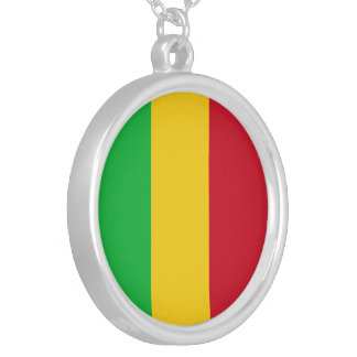 Mali Flag Silver Plated Necklace