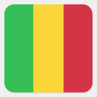 Mali Flag Square Sticker
