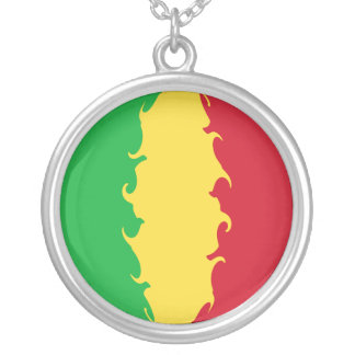 Mali Gnarly Flag Round Pendant Necklace