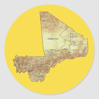 Mali Map Sticker