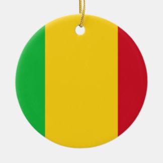 Mali National World Flag Ceramic Ornament