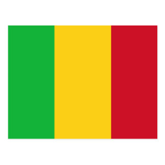 Mali National World Flag Postcard