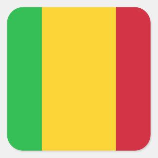 Mali National World Flag Square Sticker