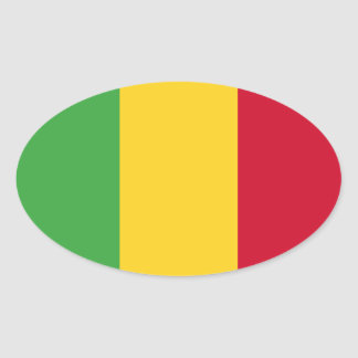 Mali Oval Sticker