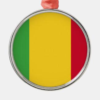 Mali Silver-Colored Round Ornament