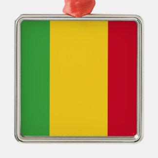 Mali Silver-Colored Square Ornament