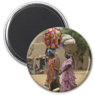 Mali Women at the Monday Market, Djenne-2 Magnet
