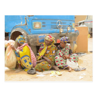 Mali Women at the Monday Market, Djenne Postcard