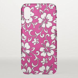 Malia Hibiscus Hawaiian Floral Magenta Pink iPhone X Case