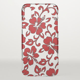 Malia Hibiscus Hawaiian Floral Red iPhone X Case