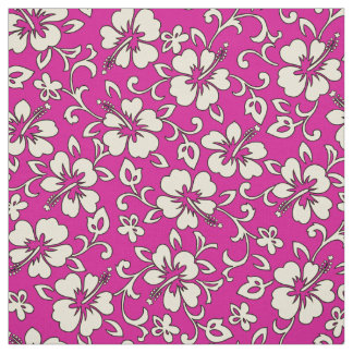 Malia Hibiscus Hawaiian Pareau Print Fabric