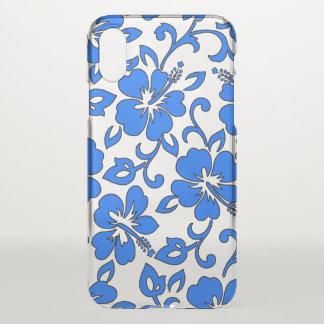 Malia Hibiscus Hawaiian Pareau Royal Blue iPhone X Case