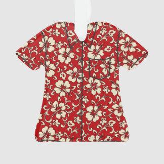 Malia Hibiscus Hawaiian Vintage Aloha Shirt Ornament