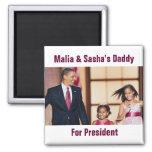 Malia & Sasha Obama Magnet