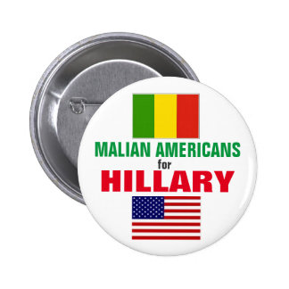 Malian Americans for Hillary 2016 2 Inch Round Button