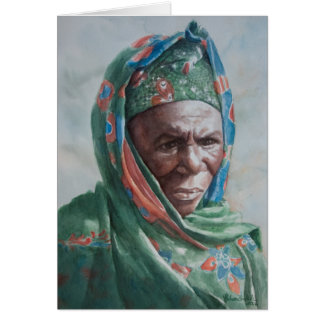 Malian woman with green shawl card