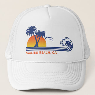 Malibu Beach CA Trucker Hat