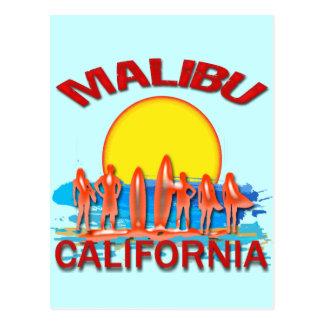 MALIBU BEACH CALIFORNIA POSTCARD