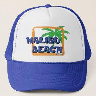 Malibu Beach Palm Tree Trucker Hat