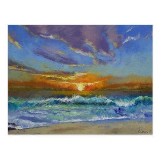 Malibu Beach Sunset Postcard