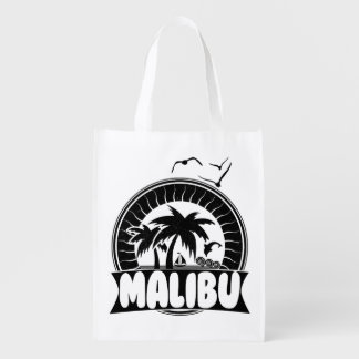 Malibu California Souvenir Beach Grocery Bags