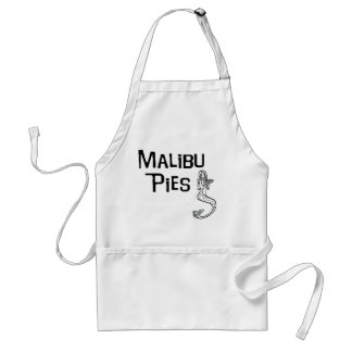 Malibu Pies Mermaid Apron Black/White