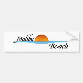 Malibu Sunset Bumper Sticker