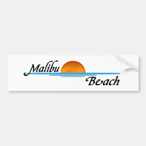 Malibu Sunset Bumper Sticker