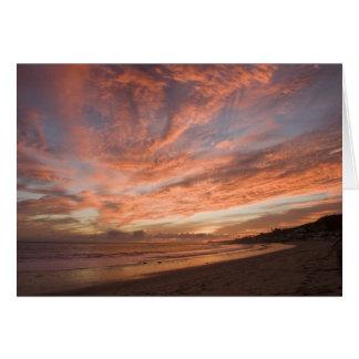 Malibu Sunset Card