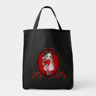 Malicious Valentine Girl Grocery Tote Bag