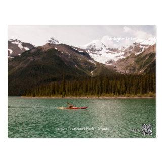 Maligne Lake Alberta Canada Postcard