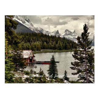 Maligne Lake Boat Shed Jasper Natn'l Park Postcard