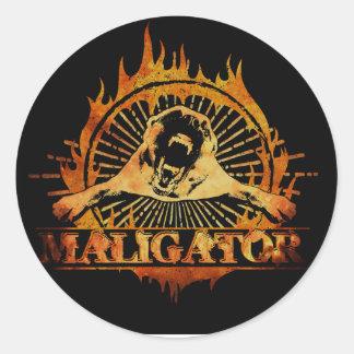 Malinois - Belgian shepherd -Mechelaar -Maligator Classic Round Sticker
